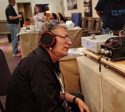 Stereophile's Herb Reichert blissed out to the Dans: Dan Clark's Mr. Speakers Ether headphones and Dan Wright's ModWright Tryst headphone amp.