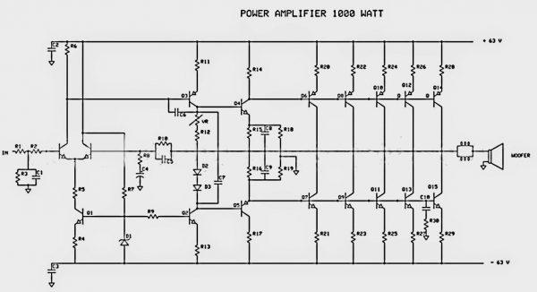 Audio amplifier Circuit diagram Audio t