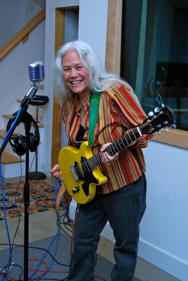 36547cf3ffd39 June Millington during the re-recording of two Fanny songs at IMA for the  documentary Feminist  Stories from Women s Liberation. Photo by director  Jennifer ...
