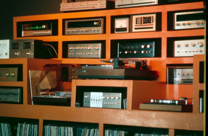 The Quintessence preamp on display at Listen Up, back in the day