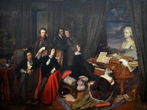 Lizst at the Piano, by Josef Danhauser.