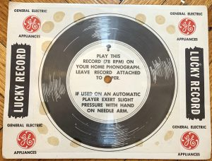 A flexi disc from General Electric.