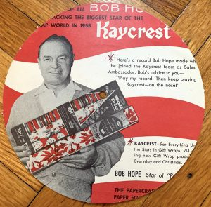 Wrapper's delight, featuring Bob Hope.