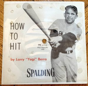 """How to Hit"" flexi disc by Yogi Berra."