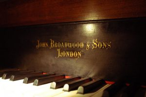 The front of J.I.'s John Broadwood & Sons piano.