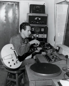 Les Paul in the studio.