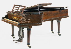 A John Broadwood & Sons piano. This is not the one restored by J.I. Agnew; this one's in the Metropolitan Museum of Art. Courtesy of Wikimedia Commons/Metropolitan Museum of Art.