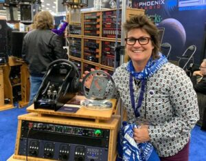EveAnna Manley with a Manley Labs Absolute Headphone Amplifier.