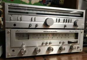 Well, one of these is vintage gold. Kenwood KR-710 and Marantz 2216b, author's collection.