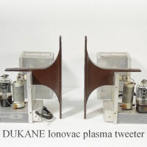 A pair of DuKane Ionovac plasma tweeters. If you've heard these, you know.