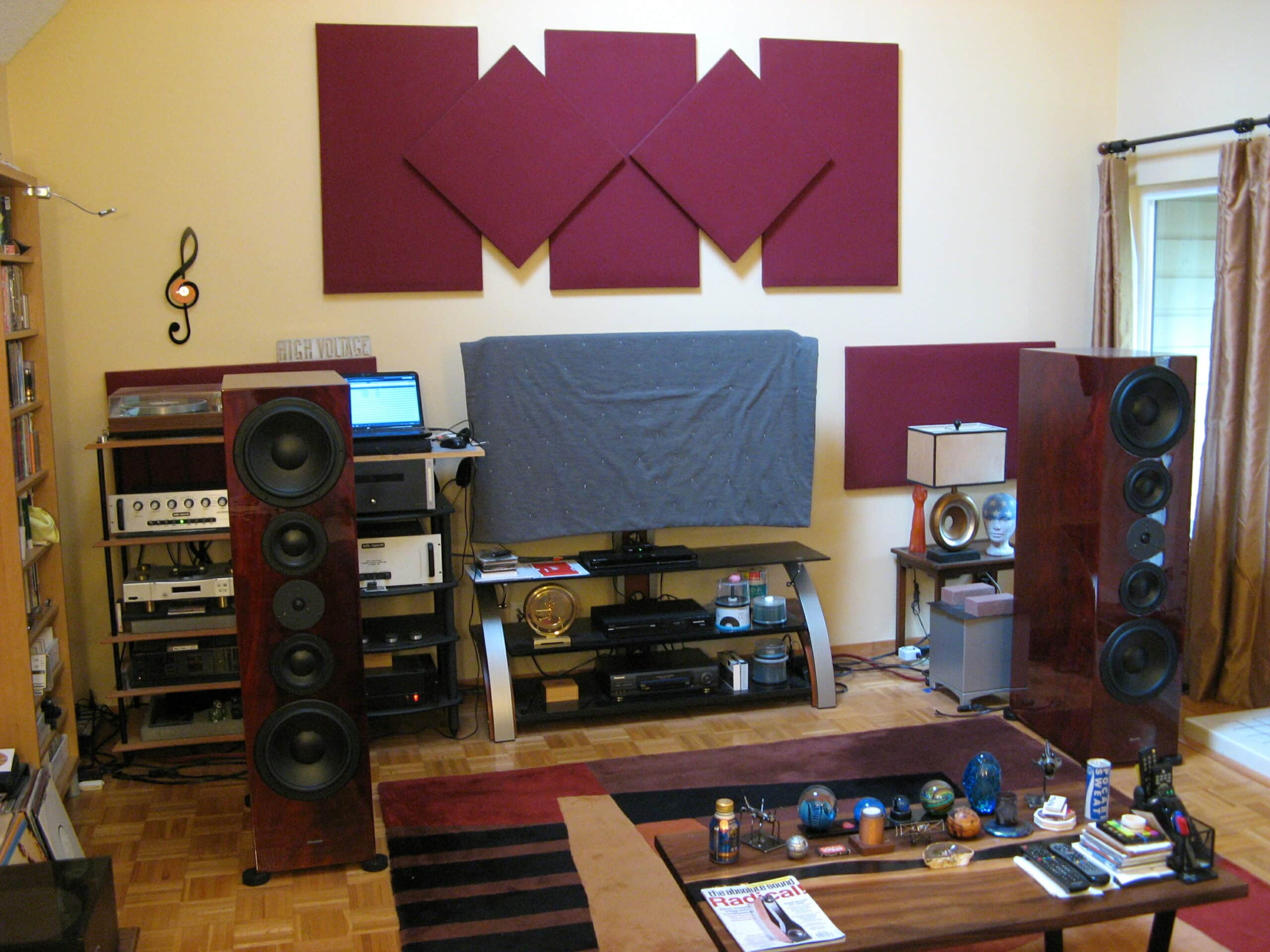 The system with the Silverline Ode to Love speakers in place. Image courtesy of Rich Isaacs.