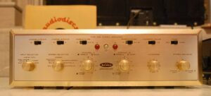 H. H. Scott Type 299 front panel. Photo courtesy of Agnew Analog Reference Instruments.
