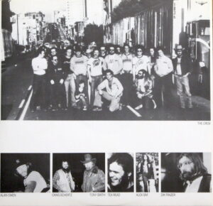 An inner sleeve of the Seconds Out album with the road crew photograph.
