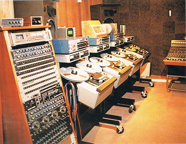 The tape copying room of the Town House. Photo courtesy of Philip Newell.