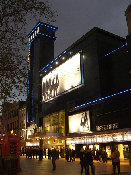 The Odeon Luxe Cinema in Leicester Square, London.