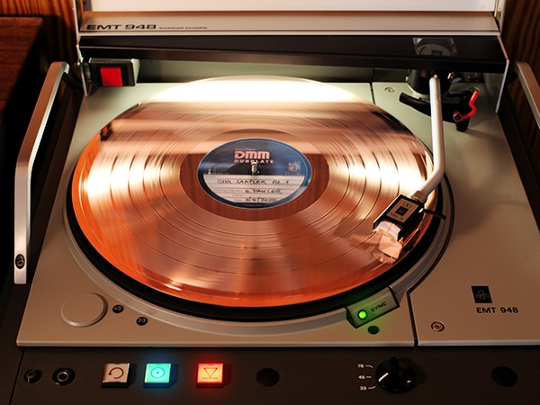 DMM Dubplate No. 1 on EMT 948 turntable.