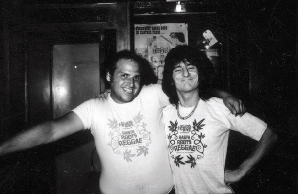 Eppy and Ron Wood. Photo courtesy of Steve Rosenfield.