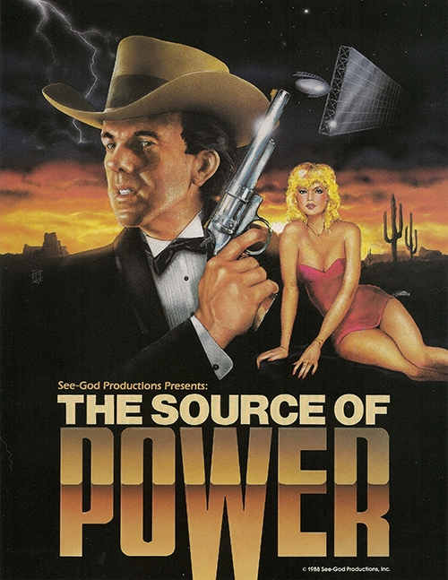 Promo poster for The Source of Power, the film John Seetoo and Dan Godzich created.