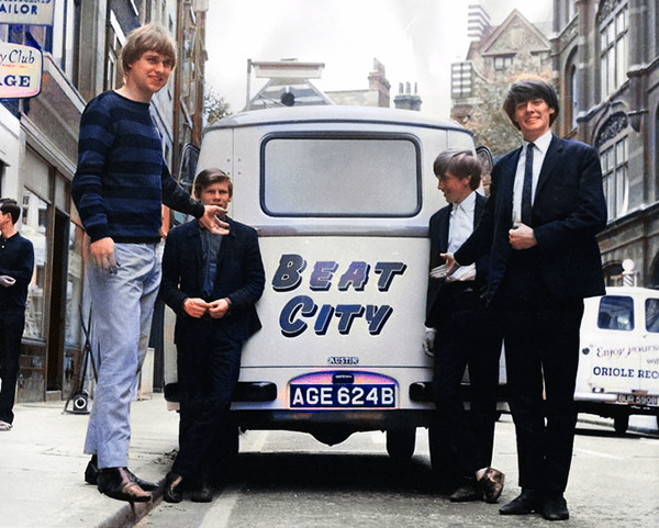 Tom Newman with early band the Tom Cats, circa 1964.