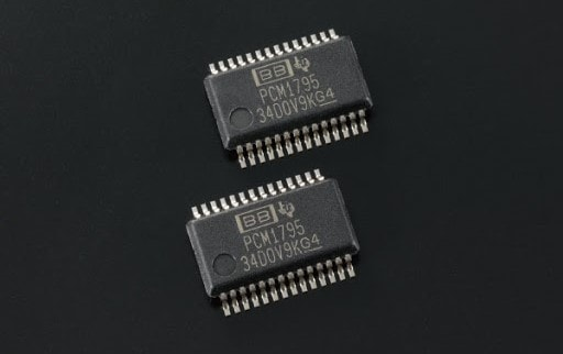 The Texas Instruments PCM1795 chipset is a utilitarian design.