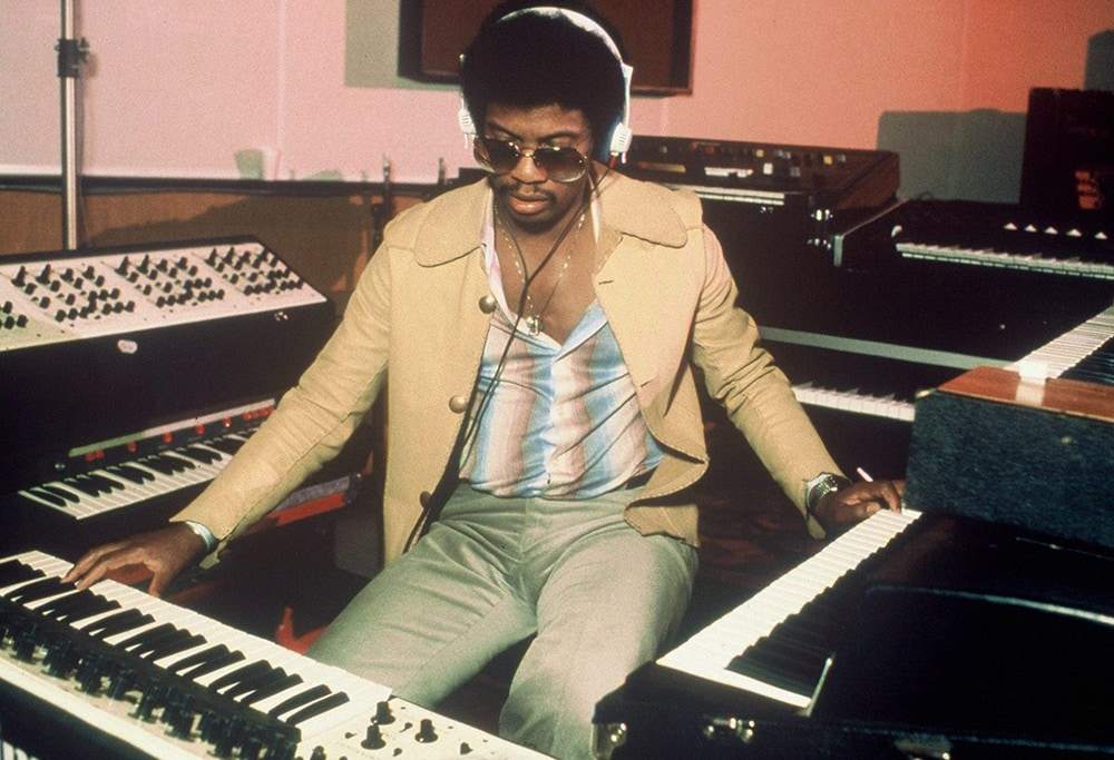 Stevie, you can't have these! Herbie Hancock in 1976. Courtesy of Vinyl Me, Please/Sony Music Archives.