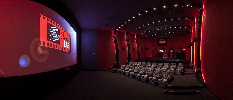 A Dolby Atmos-certified sound mixing theater at CineLab, Moscow. Courtesy of WIkimedia Commons/Dirrtyjerm.