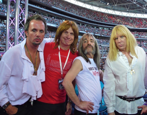 C.J. and members of Spinal Tap.