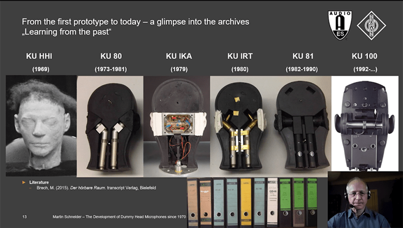 """Screen shot from """"The Development of Dummy Head Microphones Since 1970"""" by Martin Schneider, courtesy of AES."""