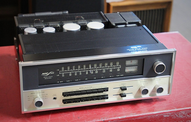 A MAC Audio Company MAC-1900 receiver. Made by McIntosh in the 1970s at a time when Frank McIntosh would not put his name on a receiver. Photo courtesy of Howard Kneller. From The Audio Classics Collection.