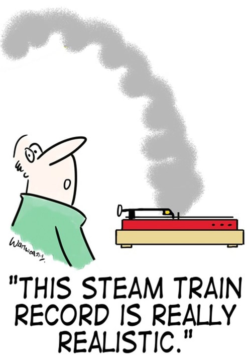 """""""This steam train record is really realistic."""""""