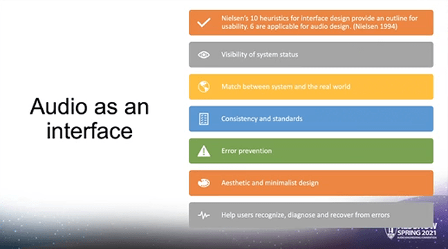 Screenshot from Guiding Audiences With Sound: Techniques for Interactive Games and Video. Courtesy of AES.