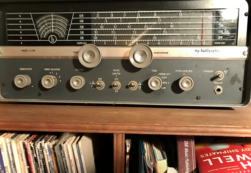 The author's Hallicrafters S-108 shortwave radio. Photo by Wayne Robins.